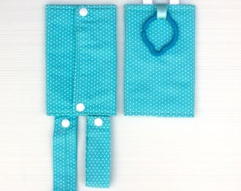 Blue and White Teething Pads, Baby Carrier Teething Pads, Ergo Teething Pads, Boba Teething Pads, Tula Teething Pads,