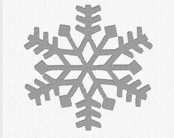 Embroidery Design Pattern File - Winter Snowflake for Tote Bag, Pillow, Mug Rug, or any Room Decor