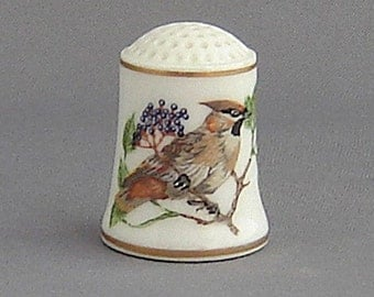Franklin Thimble - Bohemian Waxwing (Songbirds Series)