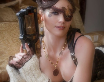Brown Diamond Steampunk Eyepatch