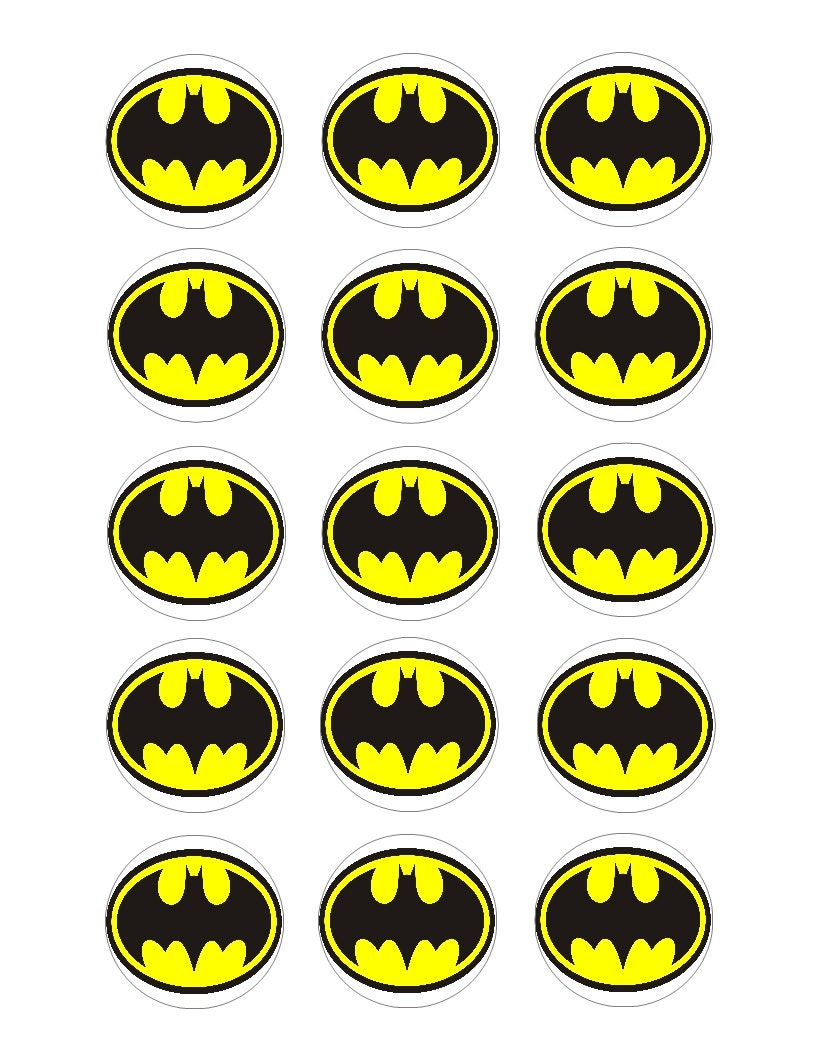 This is an image of Unforgettable Batman Cupcake Toppers Printable