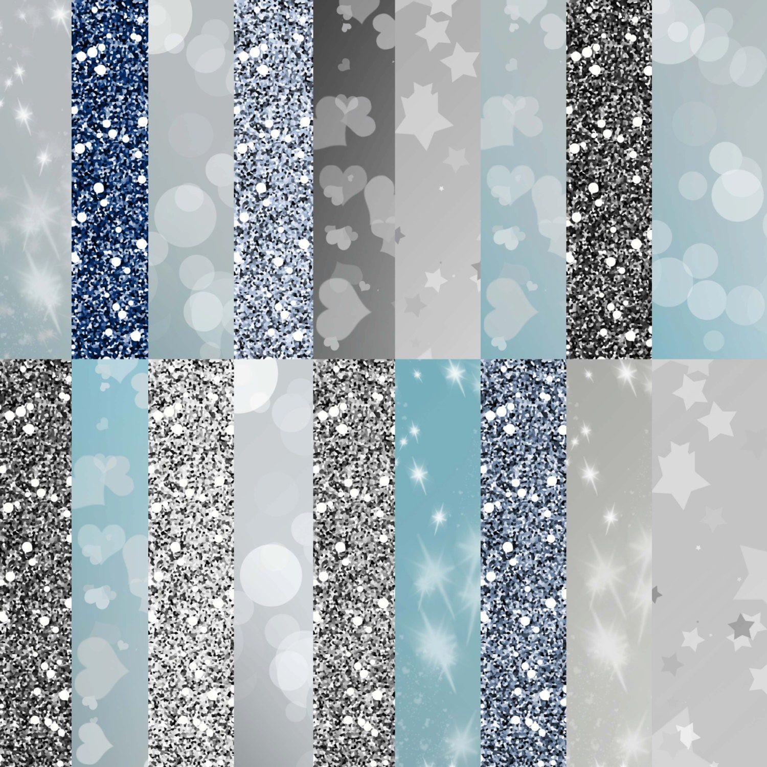How to scrapbook with glitter - Silver Digital Paper Silver Digital Papers Pack Silver Glitter Paper Silver Bokeh Paper Silver Background Scrapbook Paper