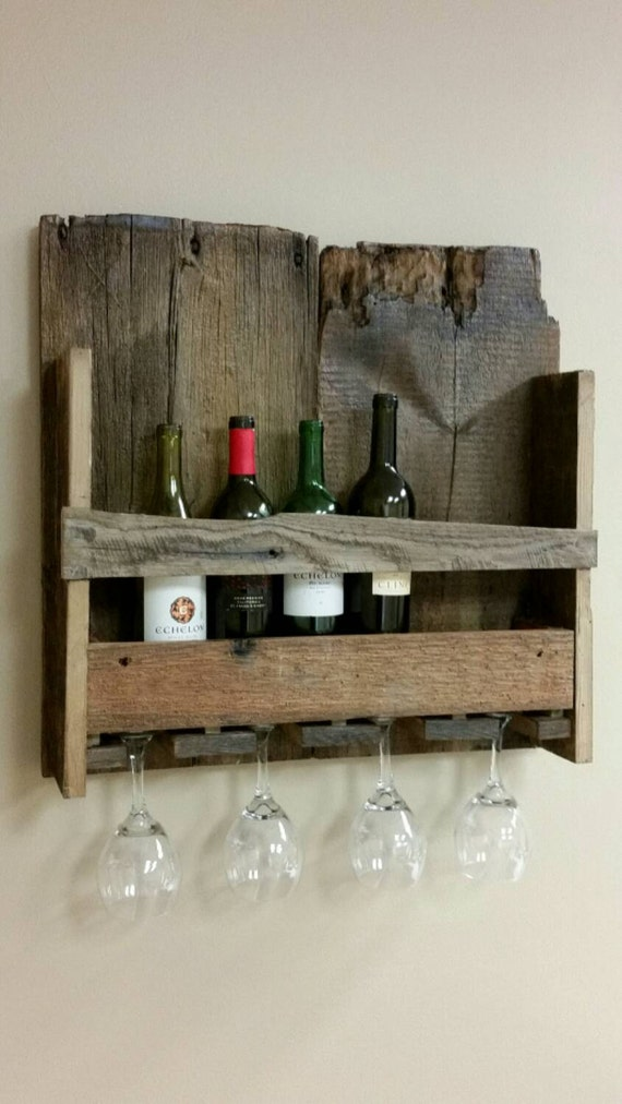 barnwood wine rack rustic barnwood wine bottle and glass rack fits up 7 1489