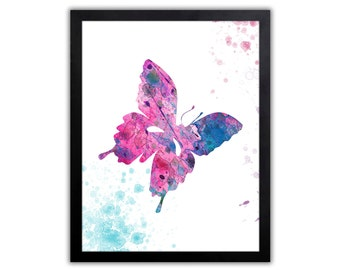 Butterfly Art Print - Nursery Art - Modern Nursery Art Print - Abstract Art - Baby Girl Nursery - BU011