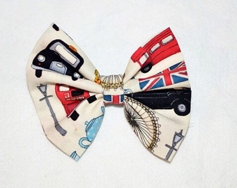 I love London hair bow