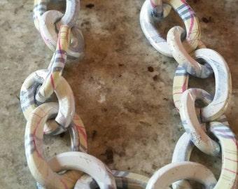 25x20mm Plaid Oval Chain