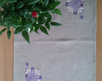 SALE!!! Pure Natural Linen Tablecloth Placemat 14x18 inches with embroidery Handmade, Eco friendly gift Free UK Delivery