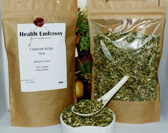 Yarrow Herb ( Millefolii Herba ) 100% Natural - Health Embassy - Only Best Quality Products