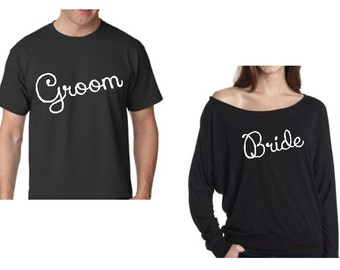 Custom Bride and Groom Shirts