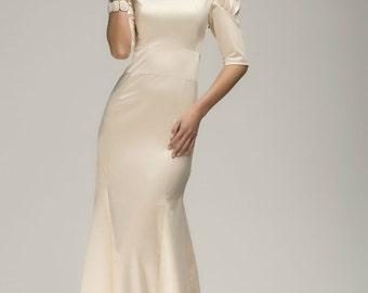 Wedding Ivory Formal Maxi Dress ,Chic Evening Long Dress.