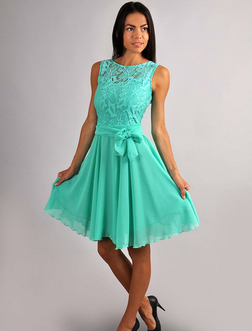 Mint lace dresses are a great addition to your Spring and Summer wardrobe- this shade of green has become extremely popular over the years. Green is also a popular color for bridesmaids dresses- mint bridesmaid dresses have been a top choice for Spring and Summer weddings, while forest and emerald green hues look perfect in the Fall.