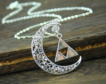 the legend of zelda jewelry crescent necklace halloween gift N309A