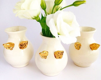 Personalized Vases - Personalised Vase - White Ceramic Vase - Flower Vase - Ceramic and Pottery - Ceramic Vase - FREE SHIPPING within Aus