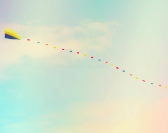 Go Fly A Kite, Wall Art,  Kite, Sky, Blue, Pastel