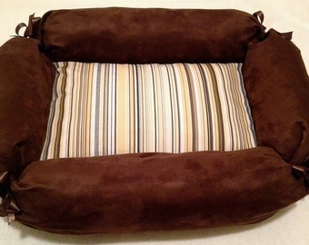 Memory Foam Dog Bed with Machine Washable Cover 17x23x4