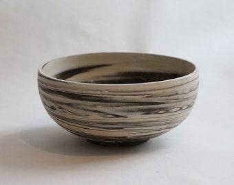 Marbled Clay Ceramic Bowl
