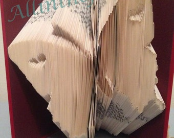 Butterfly with hearts book folding pattern