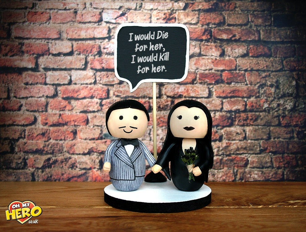 addams family wedding cake topper morticia and gomez family wedding cake topper by 10540