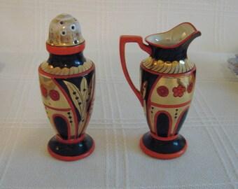 Noritake Sugar Shaker and Syrup Pitcher