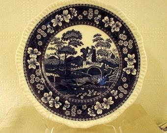 Spode Dinner Plate, Blue Tower Pattern, Blue