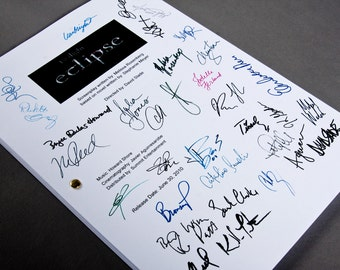 Twilight Eclipse Film Movie Script with Signatures/Autographs Reprint