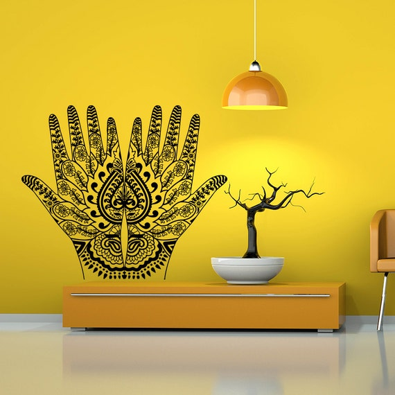 Mehndi Wall Decoration : Wall decal vinyl sticker decals art home decor by