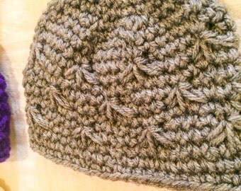 Textured Standard Hat, Crochet, Baby-Adult sizes, Made to Order
