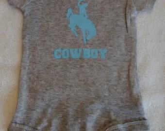 Future cowboy onesie for babies - multiple color choices!