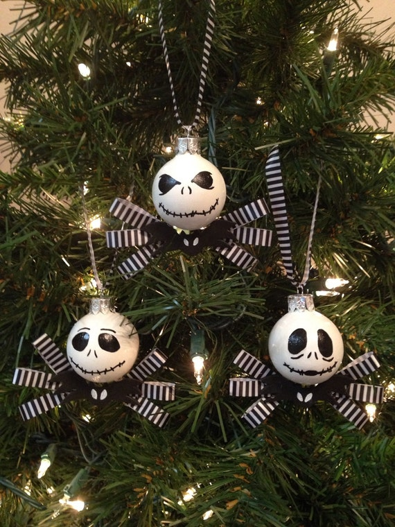 Jack skellington the nightmare before christmas set of 3 - Jack skellington decorations halloween ...