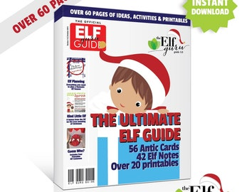 Elf on a Shelf Printable, Elf on the Mantle Shelf Elf Printables, Elf Guide, 60+ pages // Printable Kit // INSTANT DOWNLOAD // C-U04 ZZ6