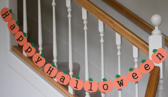 Happy Halloween Pumpkin banner, pumpkin shape