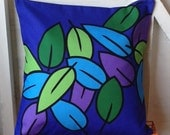 FREE SHIPPING* Cushion Pillow Contemporary bold colourful decorative pattern in Purple, Blue, Green