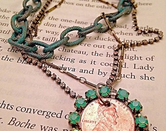 Raw Lucky Penny Necklace