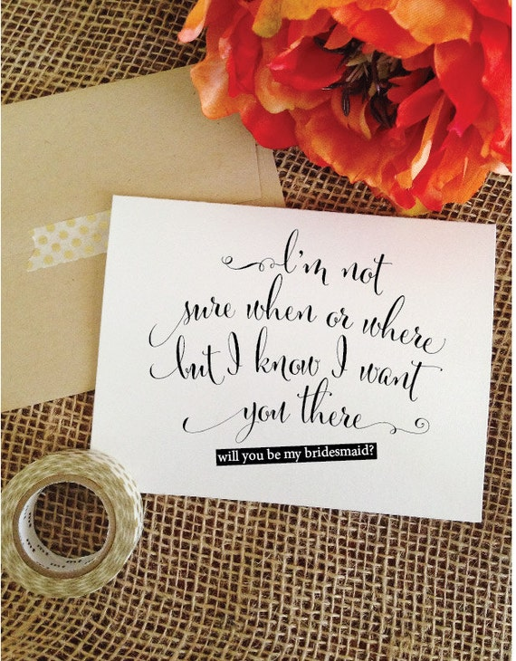 Wedding Day Gifts For Bride From Maid Of Honor : Will you be my bridesmaid Card Bridesmaid Proposal Wedding Card Ask ...