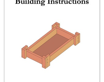 """Instructions to Build 18"""" Doll Bed"""