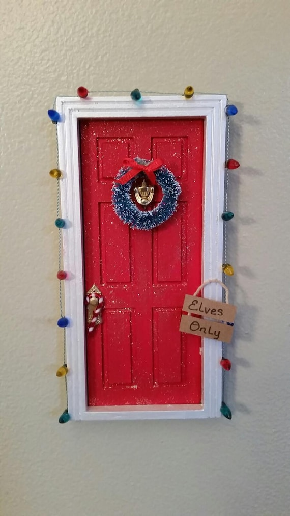 Christmas elf door tooth fairy door by thecraftconnoisseur for The magic elf door