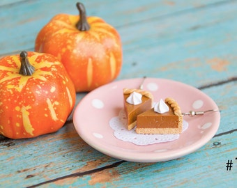 Pumpkin Pie Earrings Handmade Polymer Clay, Pumpkin Cake Earrings