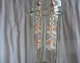 Pastel falling flower earrings