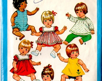 9508 Simplicity Doll Clothes Pattern 1980's complete