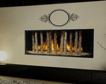 Art Deco Mirror Wall Art Sticker Decal nm040