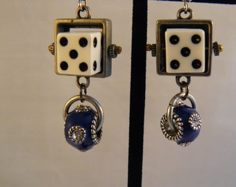 Ivory Dice Earrings