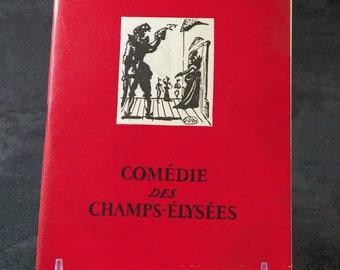 Program Comédie des Champs Elysées in 1954 in Paris|  French vintage