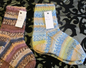 Hand Knit Adult Socks