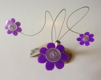 Whimsical Kinetic Flower Sculpture