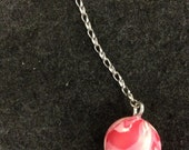 "HANDMADE ""Cream Swirl"" Bouncy Ball Keychain - NEVER lose your keys AGAIN!!!"