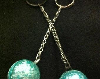 "HANDMADE ""Bornite"" Bouncy Ball Keychain - NEVER lose your keys AGAIN!!!"
