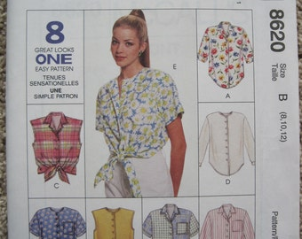 UNCUT Misses Shirts - McCalls Pattern 8620