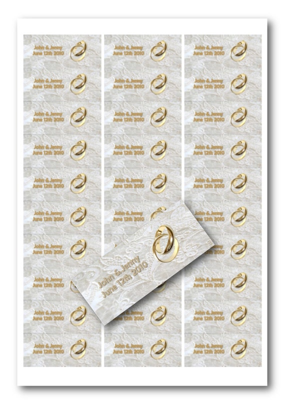 Custom return address labels White Lace and Promises matte ...