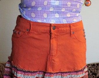 Upcycled Boho Skirt