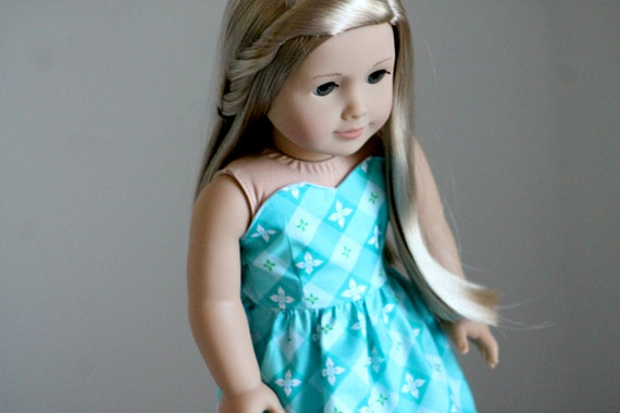 Tea On The Terrace Stapless Sweetheart Dress for American Girl Dolls